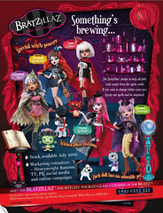 Bratzillaz Ad *_* (alexbabs1) Tags: dolls entertainment jade witches paws mga bratz jadore yasmina cloetta mgae broomstix bratzillaz spelletta clairvoya sashabella meygana