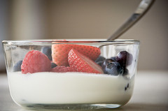 (Tich95) Tags: food breakfast nikon berries d70s strawberries raspberries bluberries yougurt