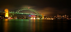 Harbour bridge by night (MisterBobo) Tags: show bridge light house night photo opera harbour lumire sydney vivid quay event nuit circular astralia