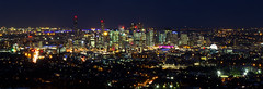 Brisvegas view from Mount Coot-tha 2012 (Eloise Claire) Tags: sunset red panorama night canon twilight view dusk pano australia brisbane brisvegas queensland mountcoottha mtcoottha mountcootha mtcootha
