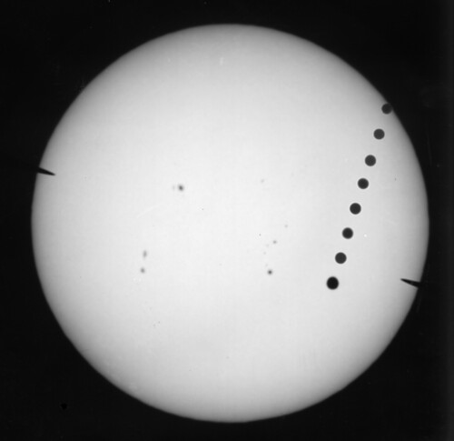 Transit of Venus on film time lapse