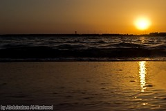 غروب في البحر (abdulsalam Al-Rasheed) Tags: photography شمس صور غروب شاطئ بحر خلفيات