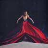 the parting of red seas (nika witkowski) Tags: red sea toronto texture girl mystery photography model fabric workshop blonde 2012 parting brookeshaden nikawitkowski