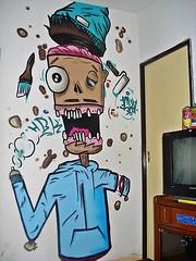 The crew in the house! (Eska) Tags: art argentina colors wall graffiti mural paint arte style wallart sketchbook spray urbanart crew writer graffitiart caracter mnt graffart aereosol ironlak montanacolors colorsurbanart mnt94