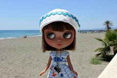 Heather loves the sea... (dambuster01) Tags: beach blythe takara tanned rbl torroxcosta primadolly custombyme heathersky