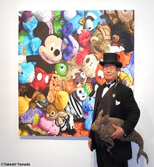 Dr. Takeshi Yamada and Seara (Coney Island Sea Rabboit) visited the Art NY at the Pier 94 in Manhattan, NY on May 3, 2016.  20160503Tue DSCN5511=4030pC2C artwork by Brent Estabrook (searabbits23) Tags: ny newyork sexy celebrity rabbit art hat fashion animal brooklyn asian coneyisland japanese star tv google king artist dragon god vampire manhattan famous gothic goth uma ufo pop taxidermy vogue cnn tuxedo bikini tophat unitednations playboy entertainer oddities genius mermaid amc mardigras salvadordali performer unicorn billclinton seamonster billgates aol vangogh curiosities sideshow jeffkoons globalwarming mart magician takashimurakami pablopicasso steampunk damienhirst cryptozoology freakshow leonardodavinci seara immortalized pier94 takeshiyamada roguetaxidermy searabbit barrackobama artny ladygaga climategate  manwithrabbit