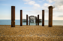 Lost (Paul's Picx) Tags: longexposure sea beach pier nikon brighton westsussex hove ruin westpier burnt damage channel d7000