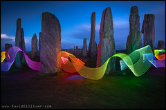 The standing stones of Callanish II (Pikebubbles) Tags: longexposure nightphotography lightpainting ribbons neon longexposures lightartist nightography davidgilliver lightjunkies davidgilliverphotography davidgillivernightnightographymoon