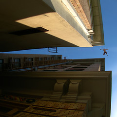 Looking Up (swong95765) Tags: sky man buildings fear perspective falling jumper scare agoraphobia peril