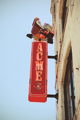 Acme (nicholeotter) Tags: city music records sign metal vintage neon nashville farm tennessee acme seed rooster feed