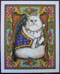 Majestic Cat (Lewis T. Johnson) (Leonisha) Tags: cat chat king puzzle katze jigsawpuzzle knig
