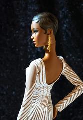 "A-Z challenge - B for ""Backless dress"" (BlackBastet) Tags: black fashion doll barbie jazz africanamerican mattel jazzdiva"