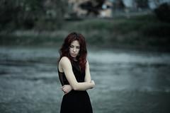 Blowin' away (la_cla25) Tags: city portrait urban woman cold girl beautiful beauty river hair model eyes wind bokeh fiume occhi ritratto freddo vento capelli modella