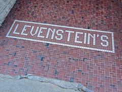 Levenstein's, Greensburg, IN (Robby Virus) Tags: retail tile carpet store floor entrance indiana dry front goods business greensburg former flooring entry tiling tiled levensteins