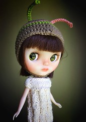 New Helmet for Mouse (Chassy Cat) Tags: fairest fbl chassyknits doll customized custom chassycat cheriebabette translucent takara blythe chips eye eyechips almonddoll