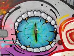 Evil Eye (RoystonVasey) Tags: street art apple wall newcastle graffiti 5 tyne tyneside iphone