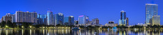 Blue Hour HDR Orlando Skyline Panorama (tshabazzphotography) Tags: cityscape skyline downtownorlando downtown orlando city urban park hdr lovers hdrphotos hdrphotography buildings architecture light reflection blue hour bluehour longshutterspeed longexposurephotography canont5i canonphotography canon
