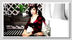 Heart shaped sunnies (Shylah Oceanlane) Tags: woman avatar sl secondlife