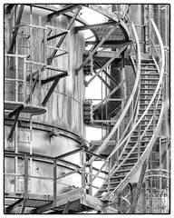 Chutes and Ladders (zen3d ) Tags: seattle stairs historical derelict refinery gasworkspark ladders urbex