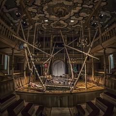 Sam Wanamaker Playhouse (Mike Hewson) Tags: london art architecture square lumix theater sam theatre stage ceiling fisheye panasonic drama playhouse globetheatre 75mm gx8 photo24 mirrorless samwanamaker micro43 microfourthirds