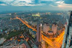From Keangnam Building (phuong0304p) Tags: city longexposure blue light sky cloud building landscape long exposure cityscape cloudy line hour bluehour hanoi cityskyline keangnam hanoiskyline