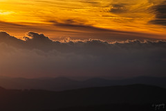 Waves (gregoriop) Tags: sunset sky mountains clouds landscape gry zachd kolor 2015 chmury niebo