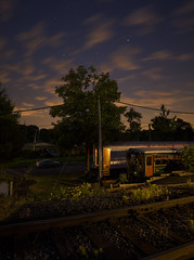 Black River & Western Ringoes ( estatik ) Tags: county new railroad sky panorama black cars station museum night train river long exposure br nj rr western jersey passenger brw ringoes hunterdon