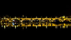 Charles Bridge at Night Prague (iesphotography) Tags: street old city bridge roof urban panorama house building tower castle history tourism home church water architecture river landscape town ancient europe european cityscape republic exterior view czech prague cathedral outdoor famous capital gothic sightseeing culture sunny charles praha landmark panoramic aerial medieval historic dome historical bohemia vltava