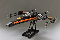Poes T-70 X wing (3) (Inthert) Tags: black one star fighter ship force lego xwing wars poe resistance moc t70 awakens dameron bb8