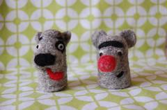 Needle felt buddies (~ tilde ~) Tags: animals diy craft needlefelt