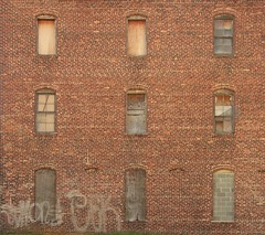 9 Windows in Brick (aka Buddy) Tags: windows building brick abandoned window canon eos rebel graffiti moving newjersey spring brothers bricks nine nj 9 warehouse og company anderson monmouthcounty redbank 2012 550d t2i efs18135mmf3556is