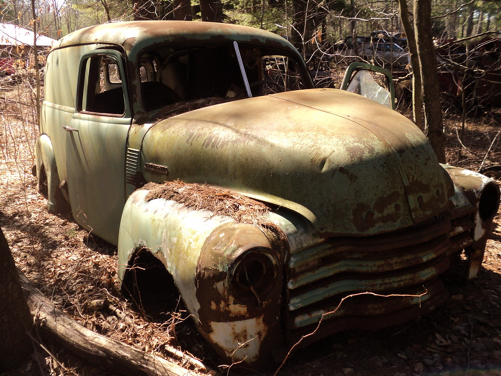 Truck 1948 chevy panel truck : The World's Best Photos of chevy and junked - Flickr Hive Mind