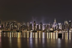 New York City on 3/23/2012 (mudpig) Tags: city nyc newyorkcity longexposure ny newyork reflection skyline night reflections geotagged newjersey ship timessquare bankofamerica intrepid hudsonriver gothamist aircraftcarrier usnavy usn edgewater hdr hoboken newyorktimes barclay weehawken allianz unionhill mudpig stevekelley stevenkelley