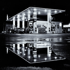 Rain is over (. Jianwei .) Tags: light wet water car rain station night vancouver port reflections dark coast spring bright over gas sharp pay coquitlam express 365 prairie poco meridian rona   a500 jianwei kemily TGAM:photodesk=water2012