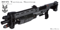 Halo Reach M45 Tactical Shotgun (Nick Brick) Tags: life brick lego action nick halo size pump m45 reach shotgun emile tactical nickjensen nickbrick