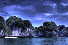 Bridge (HunggNguyen) Tags: world bridge sky islands bay long vietnam waters ha hdr wonders