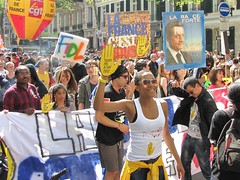 Manif du 1er Mai 2012 (tofz4u) Tags: paris demo protest demonstration 75006 pancarte manif manifestation 2012 affiche drapeau cgt 1ermai sarko banderole fidl sosracisme touchepasmonpote sarkoland