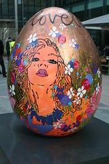 69. Love (raggi di sole) Tags: charity urban colour london art outdoors egg canarywharf easteregg canadasquarepark louisedear 69love thebigegghunt
