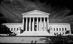 The US Supreme Court Building (Baab1) Tags: blackandwhite bw tree clouds washingtondc nikon shadows unionstation greekarchitecture d300 unitedstatessupremecourt 175528 nikkorlenses washintonarchitecture