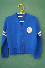Blue Button-Down Cardigan (honor) Tags: blue boy girl vintage sweater toddler down button etsy cardigan 5t 4t