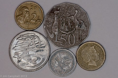 Dismal Guernsey (justjimwilldo) Tags: money coins australian currency strine