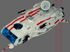 WRS Corvette - Title1 (.Jake) Tags: red white lego space stripe spaceship corvette wrs swoosh