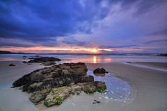 Hopeman Beach Sunset - Scottish Highlands (Explored) (Michael~Ashley) Tags: sunset beach scotland highlands sand nikon rocks scottish moray firth hopeman d3100