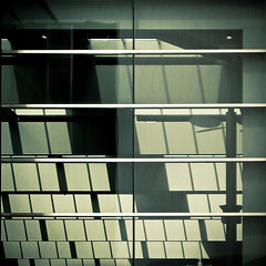 shed (morbs06) Tags: roof light shadow glass monochrome lines architecture facade reflections germany square stuttgart stripes diagonal curtainwall porschemuseum shedroof