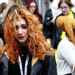 Fasionista AW13: Tousled (gregjack!) Tags: street red people woman london fashion hair candid streetphotography redhead tousled streetfashion londonfashionweek haor aw13