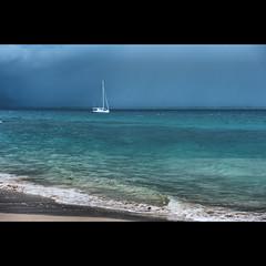 (geirkristiansen.net.) Tags: blue storm beach rain sailboat waves windy malaysia pulau southchinasea pantai azur kapasisland 2470mmf28g