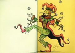 Curinga (gesielmachado) Tags: ink papel lpis desenhos nanquim ilustraes paperblanks moleskini