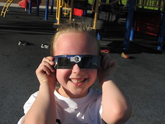 Abby with Eclipse Viewing Glasses, Mesquite, Nevada (Ken Lund) Tags: eclipse nevada clark