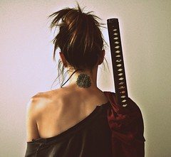katana 2 (nikkidelmont) Tags: portrait tattoo self back nikon sword katana nikkidelmont
