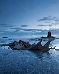 Wreck at Saltwick (dougchinnery.com) Tags: sea black sunrise dawn bay coast spring yorkshire jet whitby wreck nab saltwick chinnery admiralvontrumpblue